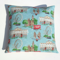 Lovely London Scene Fabric Cushion