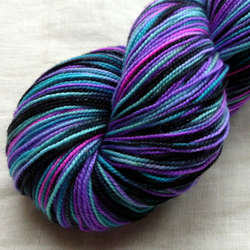 Reserved for Carley - 'Black Magick' Silver Sparkle Sock 100g