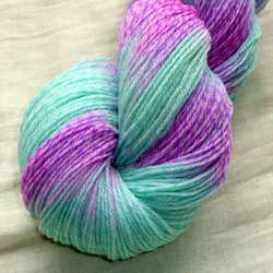 Reserved for Carley - 'Magick' - Merino Tweed Sock Yarn 100g