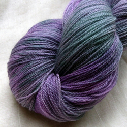 'Hellebores' Hand Dyed Superwash Merino Lace Yarn 100g
