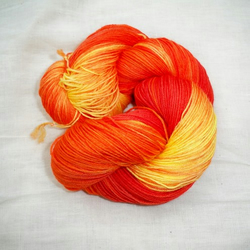 'Habanero' - Hand Dyed Superwash BFL Sock 100g