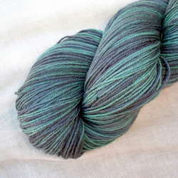 'Dusky Pine' - Hand Dyed Superwash BFL Sock 100g