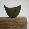 Blackbird, Handmade Ceramic Bird, Black Stoneware Clay, Pottery Gift