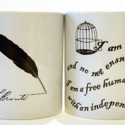Jane Eyre Mug - Charlotte Bronte  by Tattoo Mug Lady