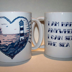 Lighthouse Tattoo mug by TattooTeaLady