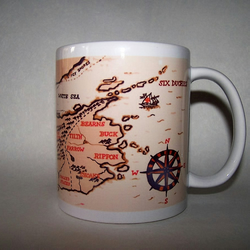 Six Duchies map mug inspired by Robin Hobb