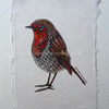 'Paisley Robin' Original drawing