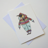 'Penguin in a Onesie' Giclee printed greetings card