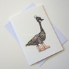 'Goose in Boots' Giclee printed greetings card