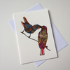 'Love Birds' Giclee printed greetings card