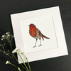 "'Robin Love' 8"" x 8"" Mounted Print"