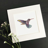 "'Hummingbird' 8"" x 8"" Mounted Print"