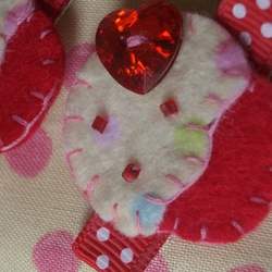 Pair of Sweet Pink & Red Polka Cupcake Hair Clips, Slides! FREE UK SHIPPING!!!