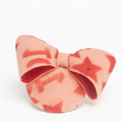Peach red stars bow fascinator
