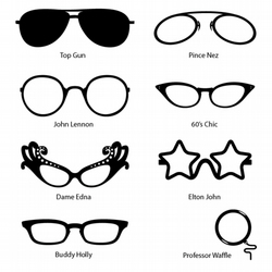 Comedy Fun Glasses (Vinyl Decals)
