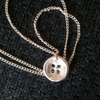 Fine Silver Button Pendant Necklace