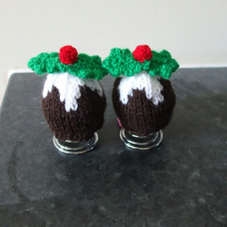 Hand knitted Christmas Egg Cosies