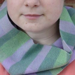 Hand Woven Lambswool Scarf Collar - Duck egg, Purple, Green
