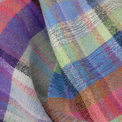 Luxury hand woven lambswool scarf. Multicoloured