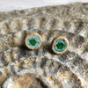 Ceramic and Recycled Glass Stud Earrings