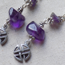 Celtic Knot Earrings with Amethyst