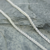 "Sterling silver spiga chain 16"" or 18"""