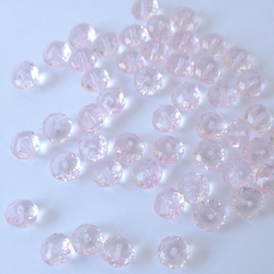 50,Acylic Crystal beads Pale Pink 10x8mm pack of 50 ideal for jewelley making.