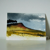 Landscape with trees - Original ACEO