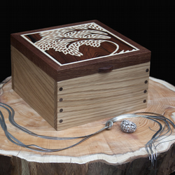 Leafy Tree Wooden Jewellery Box