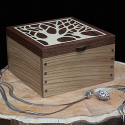 Tree Silhouette Wooden Jewellery Box