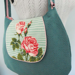 Groovy Bag in Vintage Fabric Bag - 'English Rose'