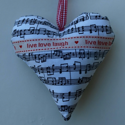 Lavender hearts - music heart or birds!
