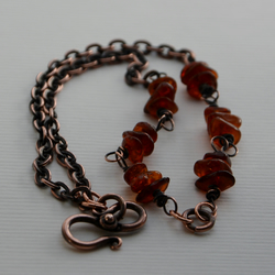 Amber Bracelet with Copper.