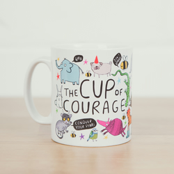 The Cup of Courage - Illustrated Ceramic Mug
