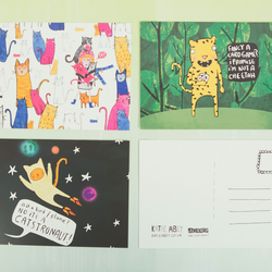 Cats Illustrated Postcard Pack