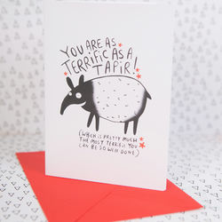 Terrific as a Tapir - Greeting card - Well Done - Thank you - Congratulations