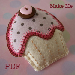 PDF TUTORIAL AND TEMPLATES - Cupcake Brooch