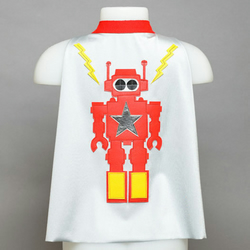 """Robot"" cape silver/red"