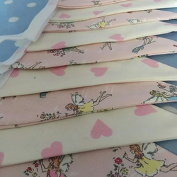 Cath kidston garden fairies cotton fabric bunting, banner, wedding,party flags