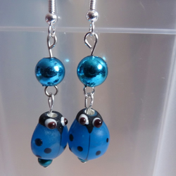 Ladybird Blues Earrings