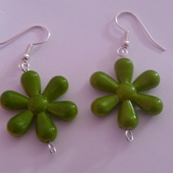 Reversible Mossy Blobs Earrings