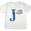 Boys Personalised Alphabet T-shirt Boys Clothes