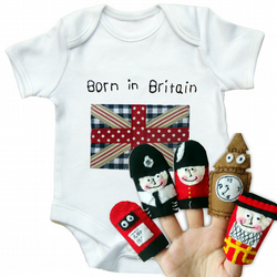 Britian Babygro and Finger Puppet Gift Set