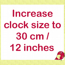 Increase clock size to 30 cm