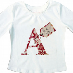 Christmas Personalised Alphabet Girls T-shirt