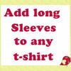 Add Long Sleeves to  Girl's T-shirt
