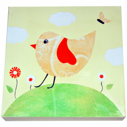 Yellow Bird Canvas