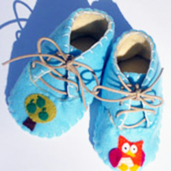 Baby Owl and Tree Booties  Shoes
