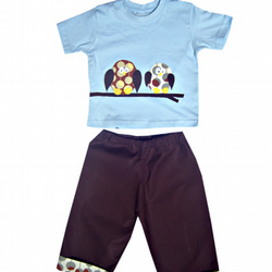 Owl T-shirt and Trousers Outfit