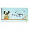 Blue Owl Personalised Door Sign